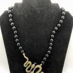 Heidi Daus Swarovski Snakes Beaded Statement Necklace YD#020-1220-05008