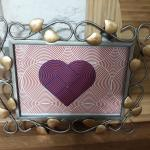 $2 SALE Gold and Silver 5 x 7 Wall Hanging Picture Frame with Heart Photo