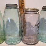 Lot 220: Large Colorful Mason Jars
