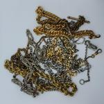 Lot 115: One ornate Bates  and Bacon Antique watch chain with double sided fob a