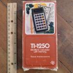 Vintage TI-1250 Calculator