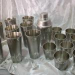 Art Brushed Aluminum Barware Bamboo