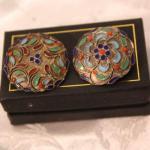 Sterling enamel earrings - Russian style - different designs
