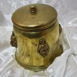 Brass Humidor Indian Chief Tobacco Barware