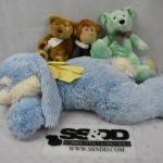 4 Stuffed Animal Toys: 1 large, 3 small