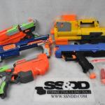 Misc Nerf Toys: 5 Guns & small bag of darts