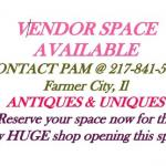 Vendor Space Available