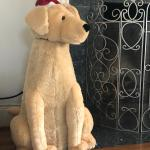 Big stuffed Christmas dog