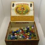 Lot 34 - Cigar Box of Marbles