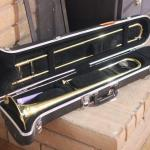 Lot 63 Yamaha Trombone in Case w/ Accessories
