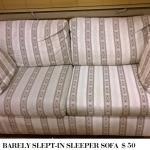 BARELY USED SLEEPER SOFA