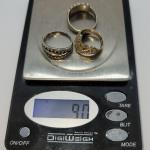 JMO12: 3 vintage sterling silver rings