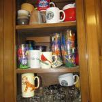 Cabinet Full of Cups, Glasses, and Mugs