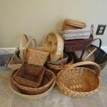 Variety of Baskets (Lots of Different Shapes and Sizes)