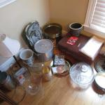 Group of Housewares (Cake Stand, Stock Pot, Lamps, etc.)