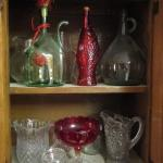 Collection of Glassware (Pitchers, Bottles, etc.)