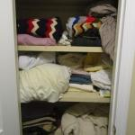 Closet Full of Linens (Sheets, Blankets, Pillows, Towels)