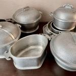 LOT 109  ANTIQUE SET OF GUARDIAN SERVICE HAMMERED ALUMINUM COOKWARE