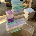 Lot 292 - Lidded Plastic Storage Bins