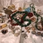 Vintage costume jewelry rhinestones silver