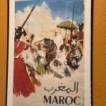 LOT 124  VINTAGE MAROC MOROCCO TRAVEL POSTER