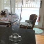 Long stem roses vase