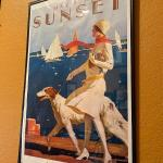 LOT 123  REPRODUCTION SUNSET MAGAZINE COVER POSTER MAY 1929 WOMAN & DOG