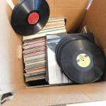 Large Box of Approximately 80+ Vinyl Records Show Tunes, Big Band, Pop Music
