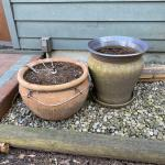 Extra large terracotta pot, 1 large terracotta  & 1 large clay pot