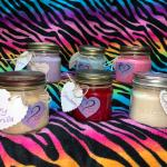 Handmade all natural soy wax candles w/all natural heavenly fragrances