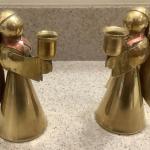 Brass Candlestick Holders  (Angels)