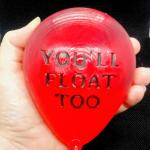 "IT ""You'll Float Too"" Pennywise Red Balloon Soap - Carnival Cotton Candy Scent"