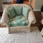 6 Piece White Wicker Living Room Furniture