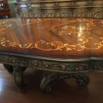 Italian Style Hand Carved, Hand Painted Accent Dining Room Set