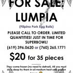 LUMPIA FOR SALE