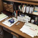 Oak rolle top Executive desk