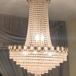 Crystal chandelier.  In good condition.