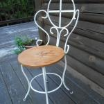 Vintage Iron Ice Cream Parlor Chair