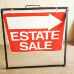 6 Metal Sidewalk A-Frames & 6 Estate Sale Signs