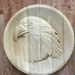 Wooden Eagle Carving