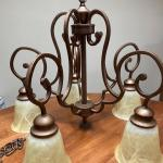 Metal bronze chandelier