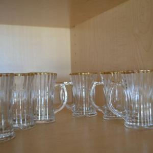 Photo of LOT 366 MINI GLASSES WITH GOLD ACCENT