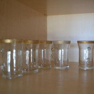 Photo of LOT 365  MINI GLASSES WITH GOLD ACCENT