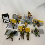 -293- GI Joe   TWELVE Action Figures   File Cards   Hasbro