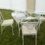 Wroth Iron Patio Set With 4 Chairs -Heavy