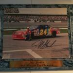 JEFF GORDON AUTOGRAPHED 1995 WINSTON CUP CHAMPION PLAQUE