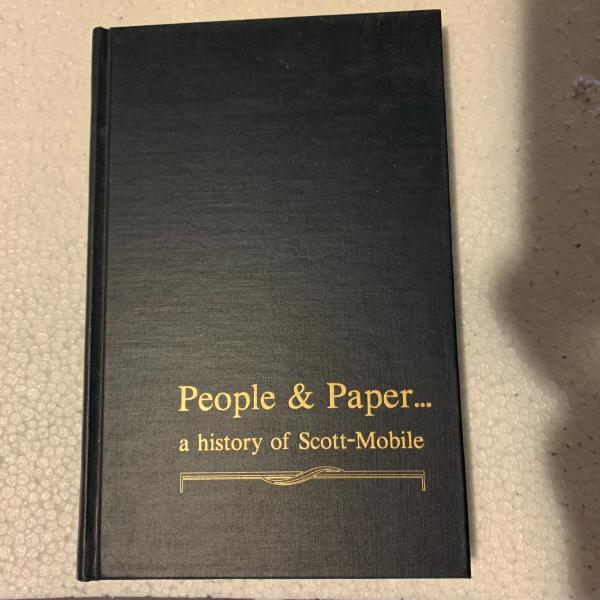 Photo of Book on the History of Scott Paper Company in Mobile, Alabama