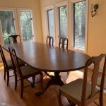 Large Dining room Table & 6 chairs