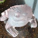 "Clear Glass Frog 3"" X 4.5"""