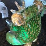 "Glass Blown Frog 4.5""H"